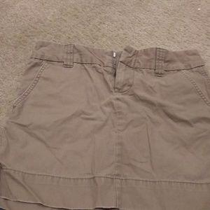 Gap Favorite Chino Khaki Skirt
